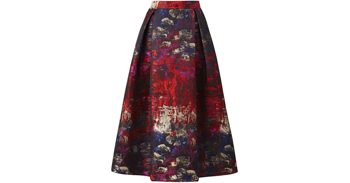 fd4a20dde4 Simply Be Joanna Hope Jacquard Skirt in Red - Lyst