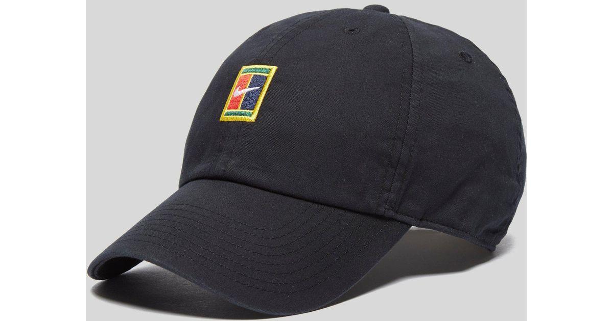 Lyst - Nike Court Logo Cap in Black for Men 06b441dddd4