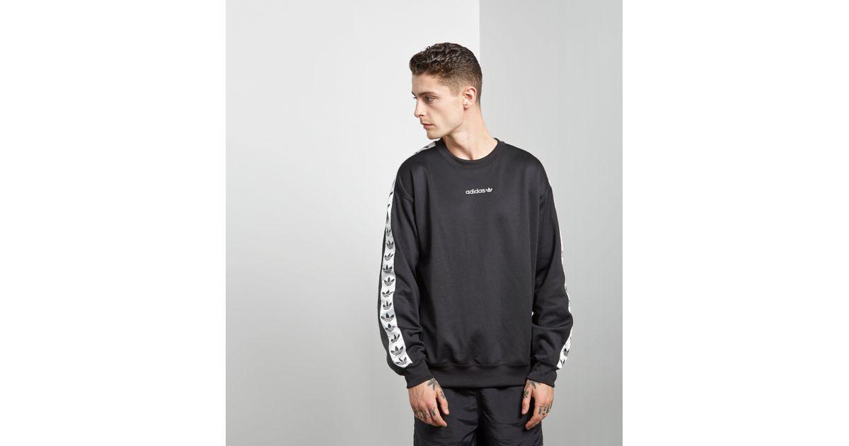 Adidas Originals - Black Tape Crew Sweatshirt for Men - Lyst b07165ac1e