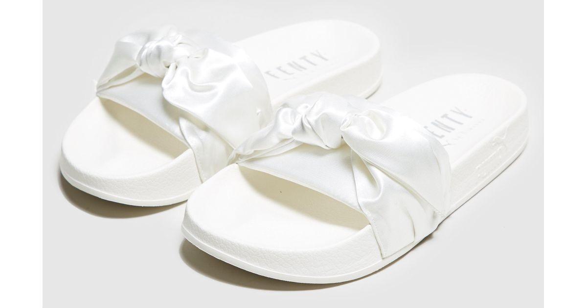 online retailer 11a44 c4bd8 PUMA - White Fenty Bow Slide Women's - Lyst