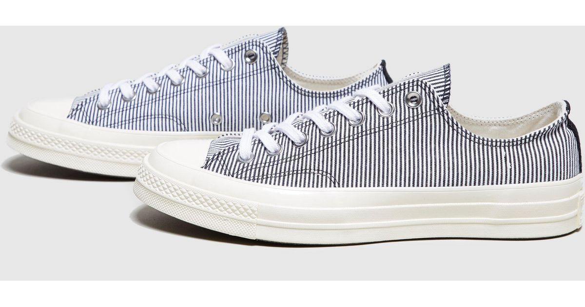 93602c267537 Converse Chuck Taylor 70 Striped Chambray in Blue - Lyst