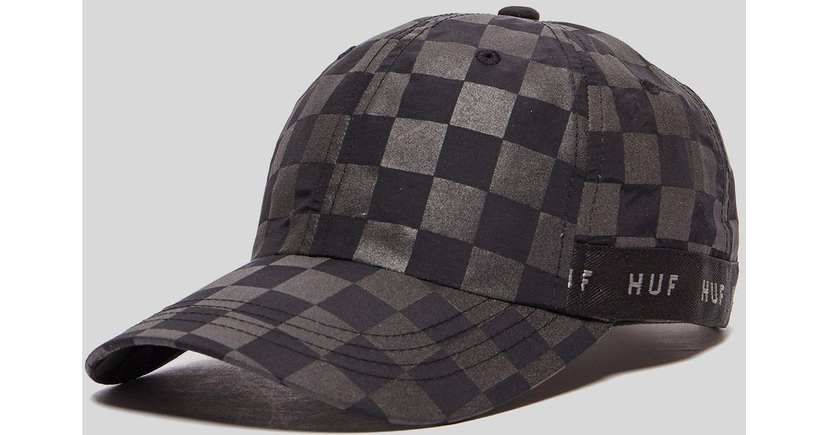 5231d778114c4 ... store huf blackout curved visor hat in gray for men lyst 3c074 3f415