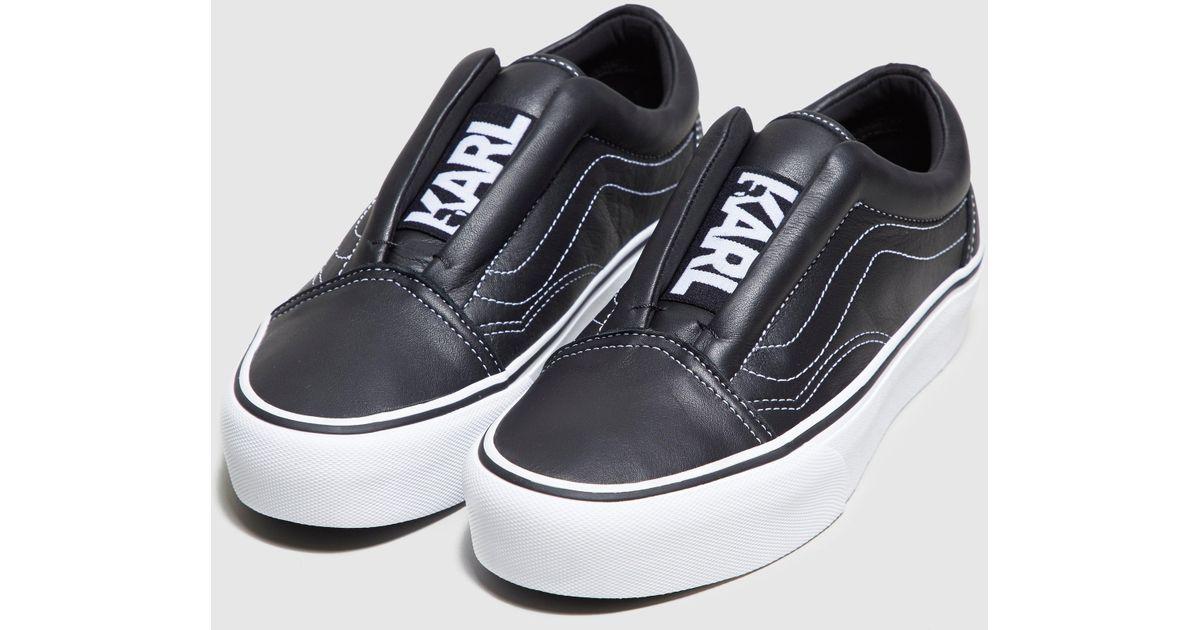 8b4d2fada202 Lyst - Vans X Karl Lagerfeld Laceless Platform Women s in Black
