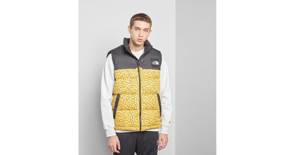 7ced36f8852d Lyst - The North Face 1992 Nuptse Vest in Yellow for Men