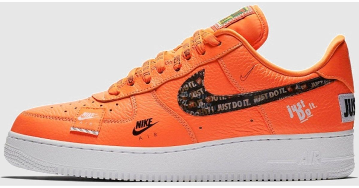 Nike Air Force 1  07 Premium  just Do It  Women s in Orange - Lyst 31fa137f1