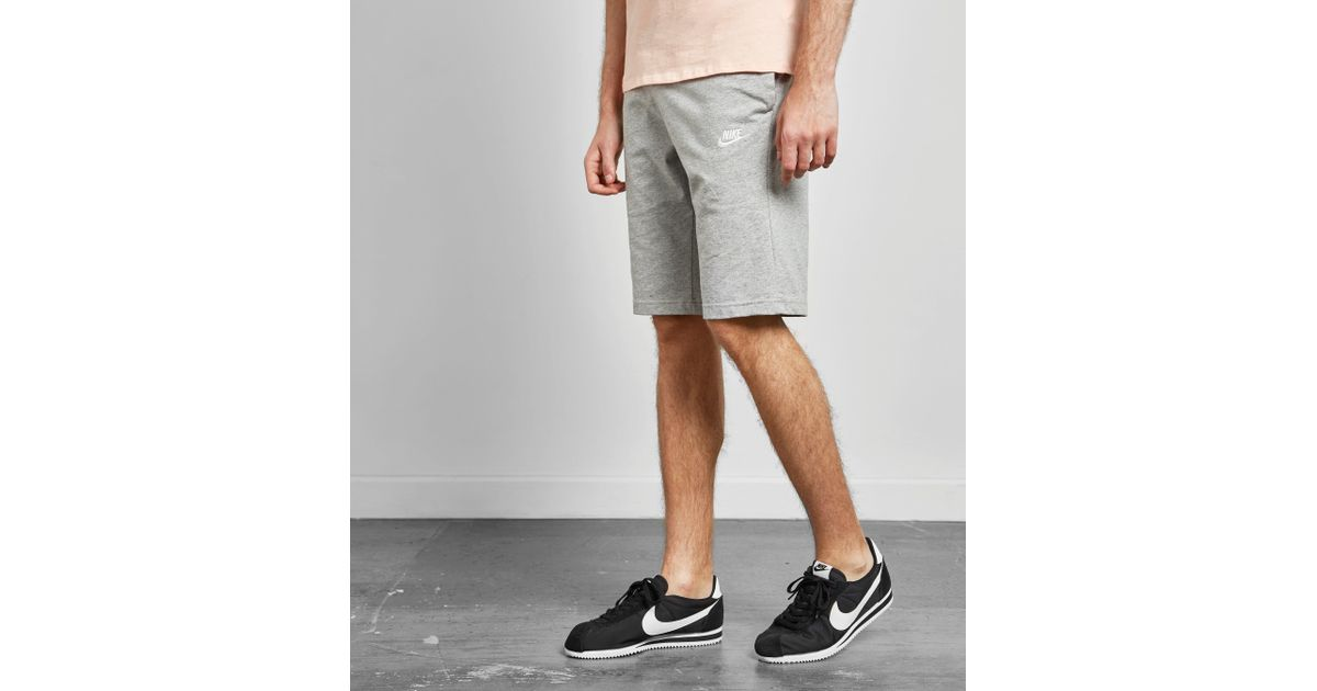 65f74feaa Lyst - Nike Club Shorts in Gray for Men