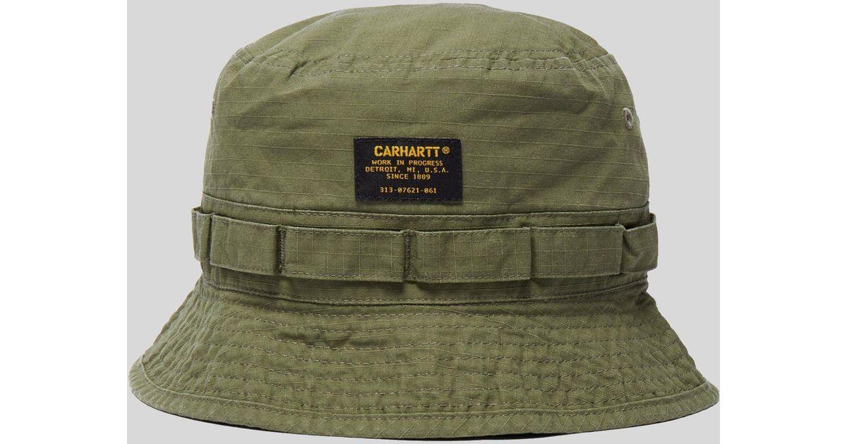 Lyst - Carhartt WIP Military Bucket Hat in Green for Men 15aa4ff7d2c