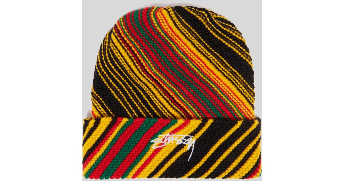 a1daeb29b5b34 Lyst - Stussy Tribe Stripe Hat for Men