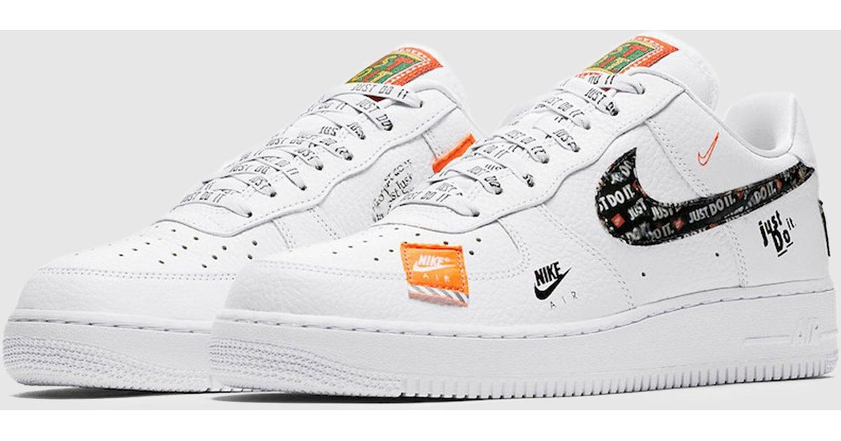 new product 2b783 aeffa Nike Air Force 1  07 Premium  just Do It  Women s in White - Lyst