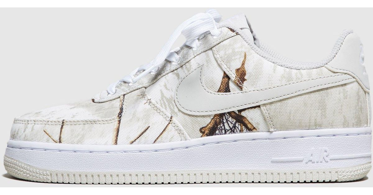 266264f16f79e Nike Air Force 1 'realtree' Camo Pack Women's in White - Lyst