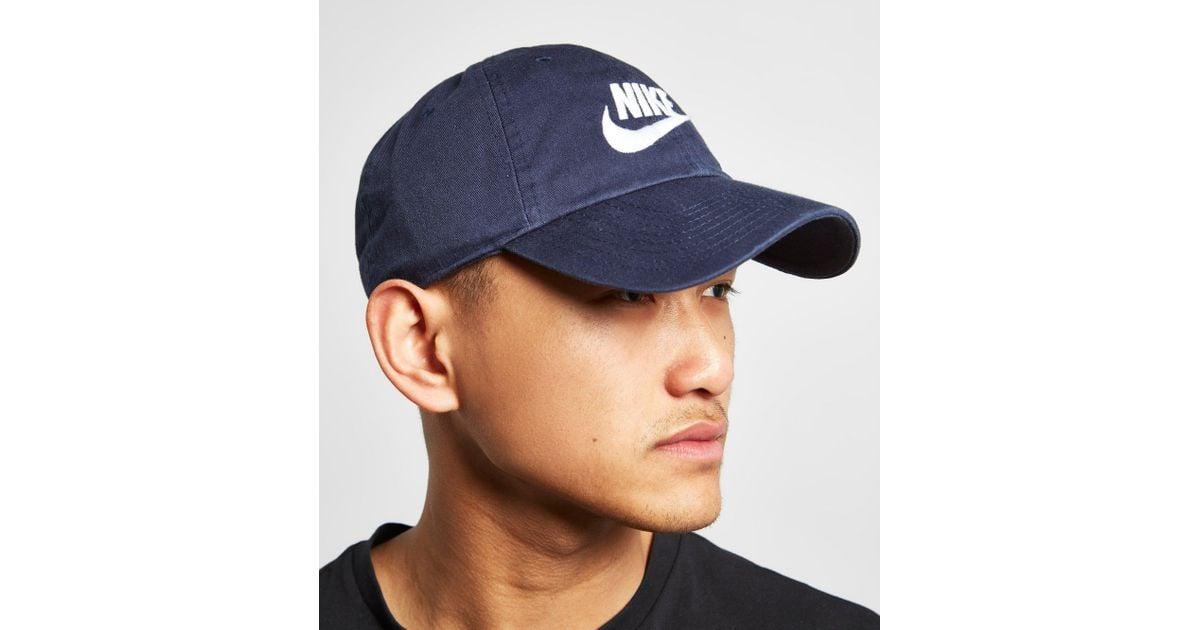 b1321ad9ec61e Nike Futura Washed Cap in Blue for Men - Lyst