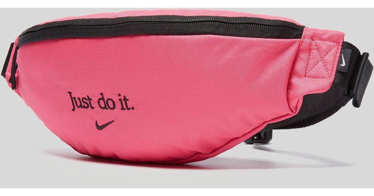 57a7360d60 Nike Just Do It Hip Pack in Pink for Men - Lyst