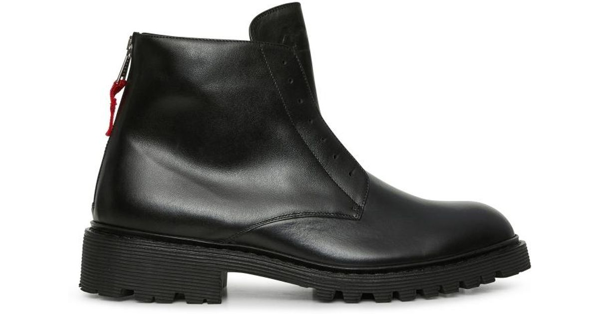 856eebf9525d Lyst - 424 High Top Laceless Boots in Black