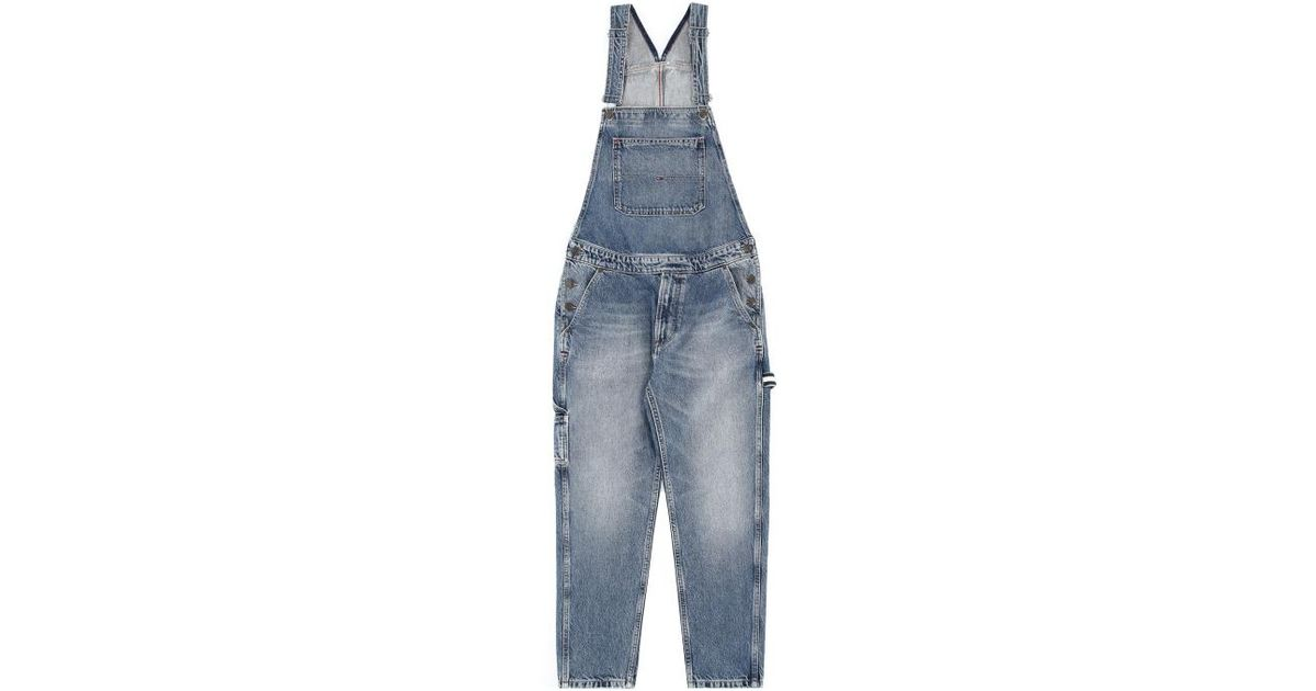 e7beb9e6f Tommy Hilfiger Regular Dungaree Jumpsuit in Blue - Lyst