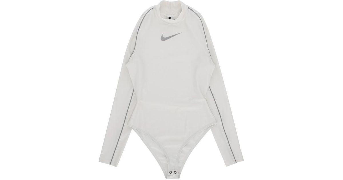55182021c Lyst - Nike Wmns Ambush® Bodysuit in White