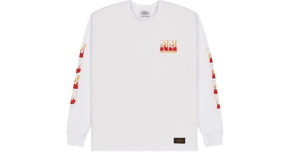66a5a25d Neighborhood Hell Long Sleeves T-shirt in White for Men - Lyst