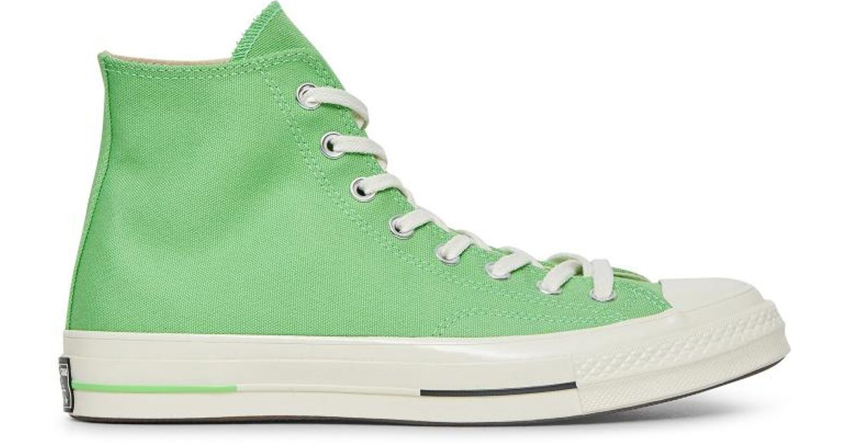 8e4114d5117 Lyst - Converse Chuck Taylor 70 s Hi  heritage Court  Sneakers in Green