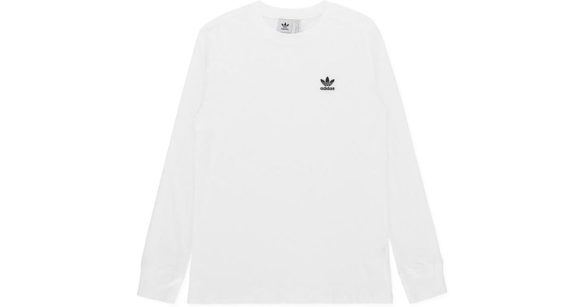 18a4e0fe Lyst - adidas Originals Wmns Sc Long Sleeves T-shirt in White