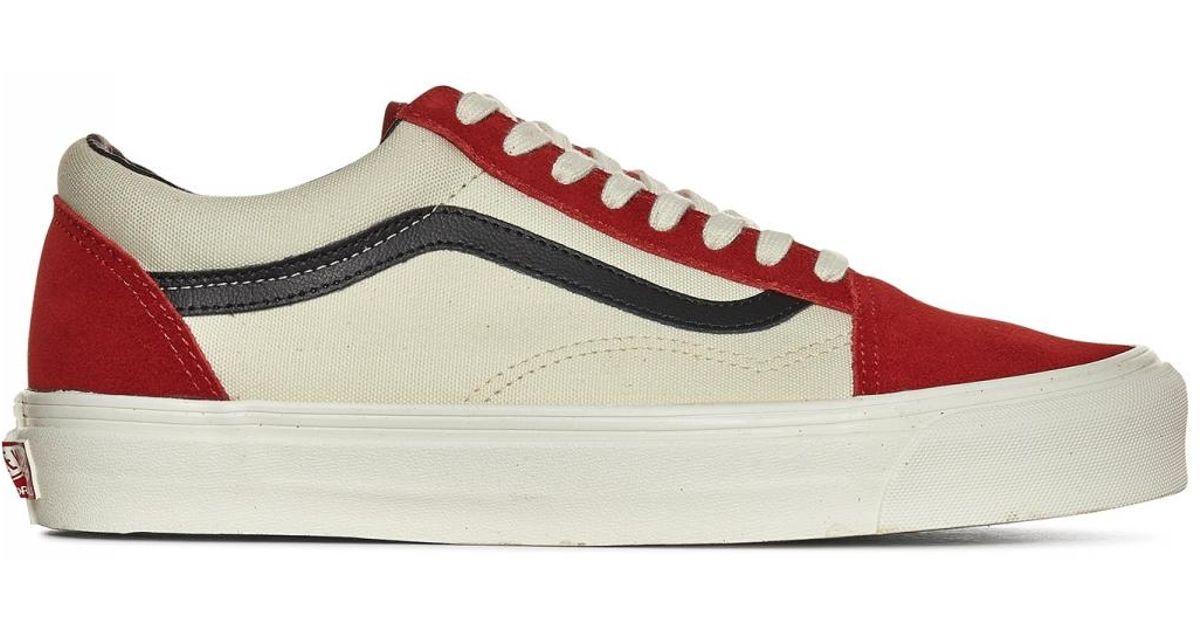 b8cde6d1d3d510 Lyst - Vans Og Old Skool Lx Sneakers in Red for Men