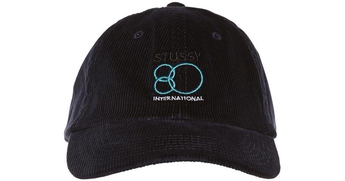 Lyst - Stussy 80 International Cap in Blue for Men 9d9bab55a3b