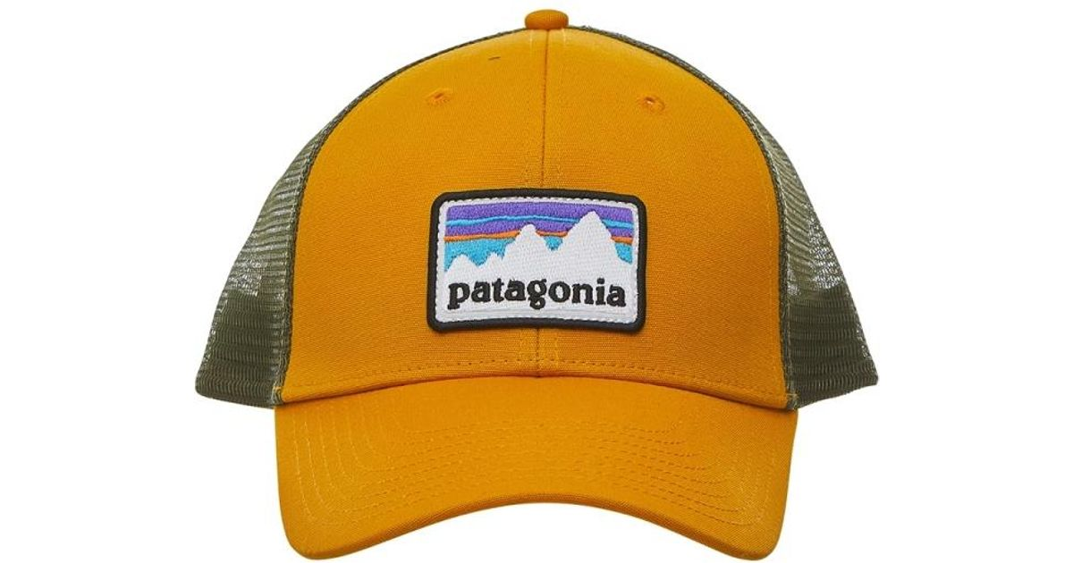 3f6a0482df9e3 Lyst - Patagonia Shop Sticker Patch Lopro Trucker Hat in Yellow for Men