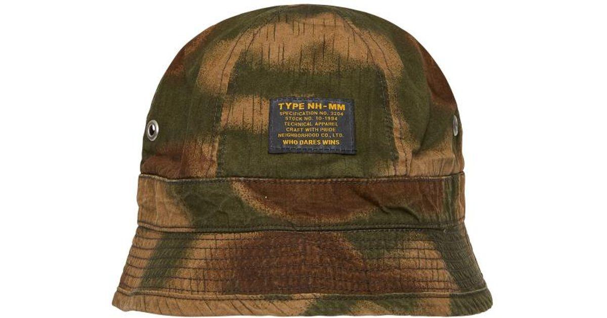 9a3167119439d Neighborhood Mi L-ball Bucket Hat in Green for Men - Lyst