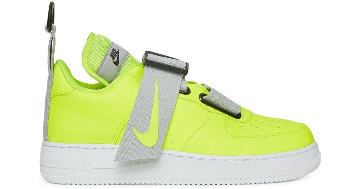dd9740723 Nike Air Force 1 Utility Volt white Black for Men - Lyst