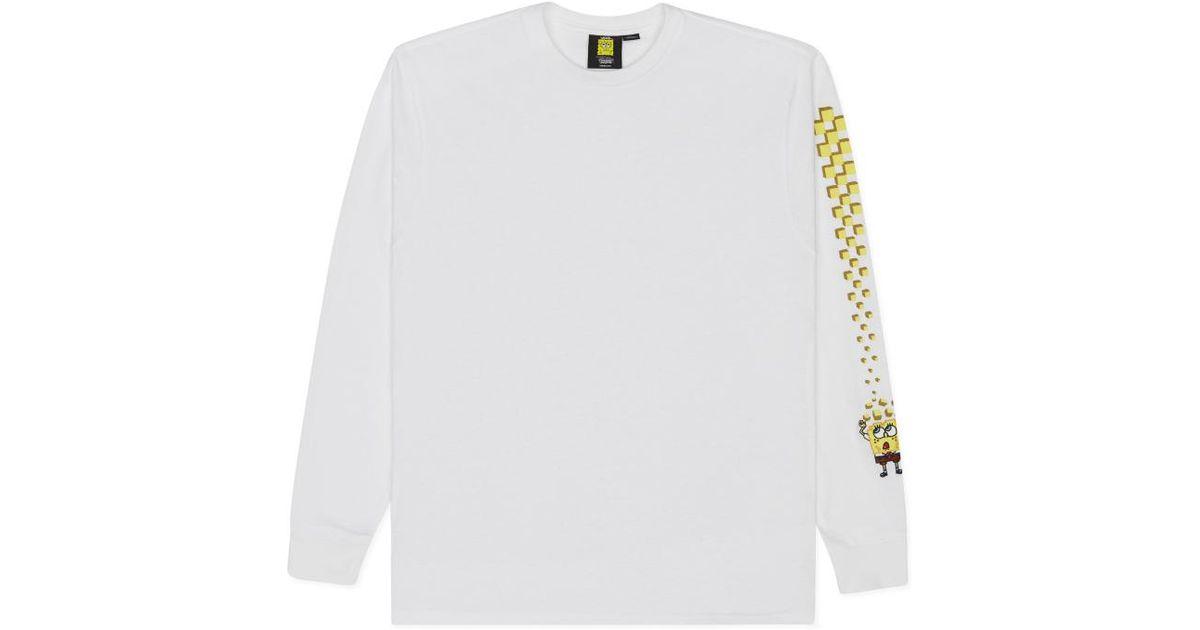 cd1bfbc4847 Lyst - Vans X Spongebob Longsleeve T-shirt White in White