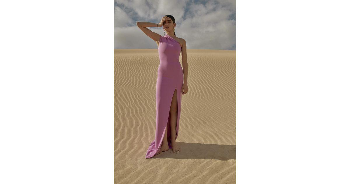 da28e0c919 Solace London Averie Maxi Dress Lilac in Purple - Lyst