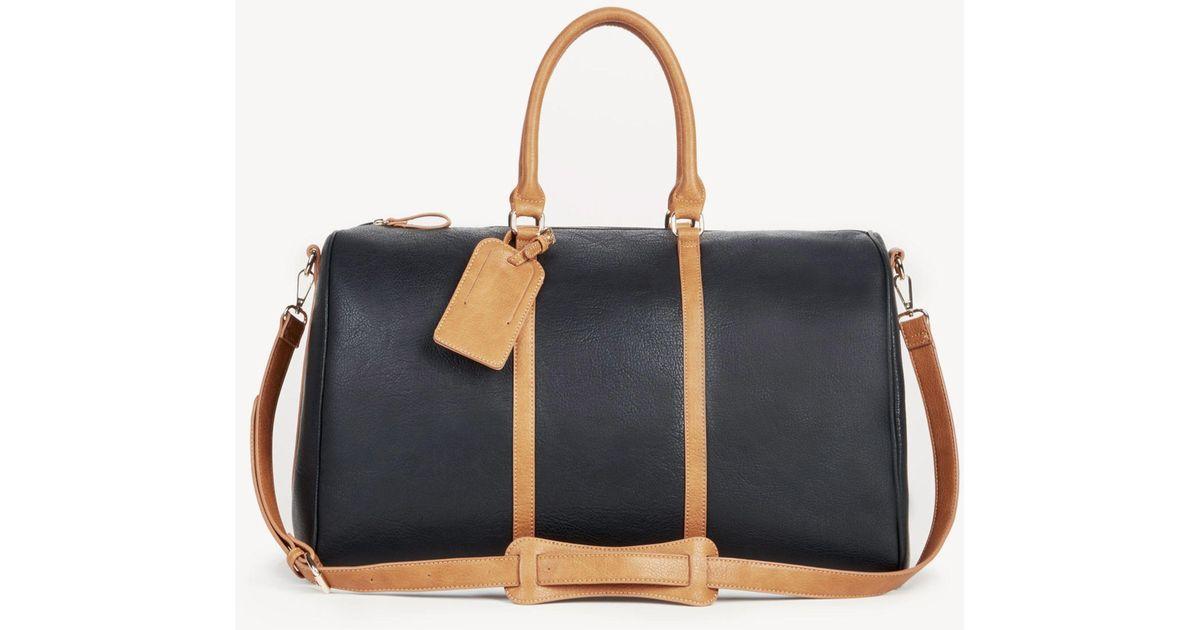 566fa9b819 Lyst - Sole Society Lacie Weekender Vegan Leather Weekender in Black