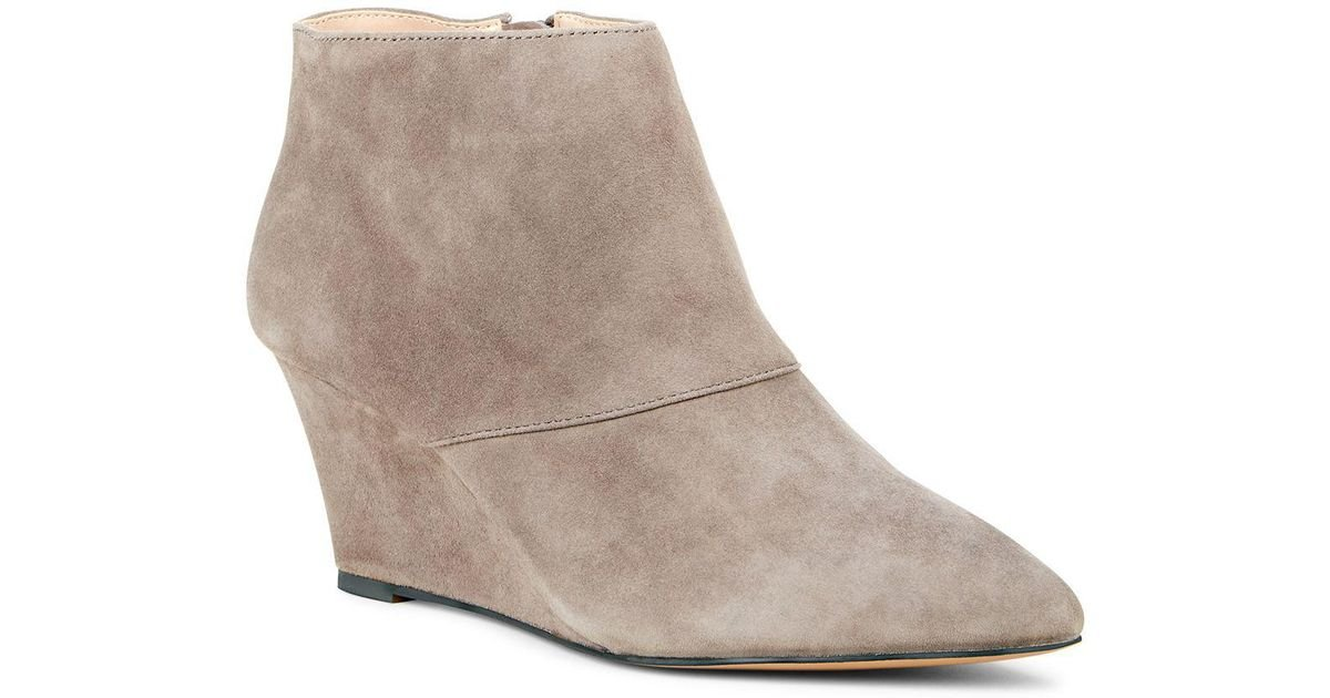 c66a04ce540 Lyst - Sole Society Galaossi Pointed Toe Wedge Bootie