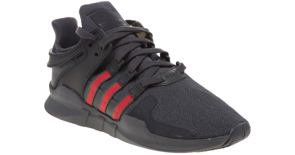 new product 61fb1 78685 Adidas - Black Eqt Support Adv Trainers for Men - Lyst