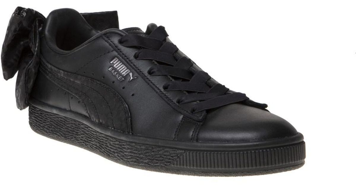 af6cd26d590 PUMA Basket Bow Trainers in Black - Lyst