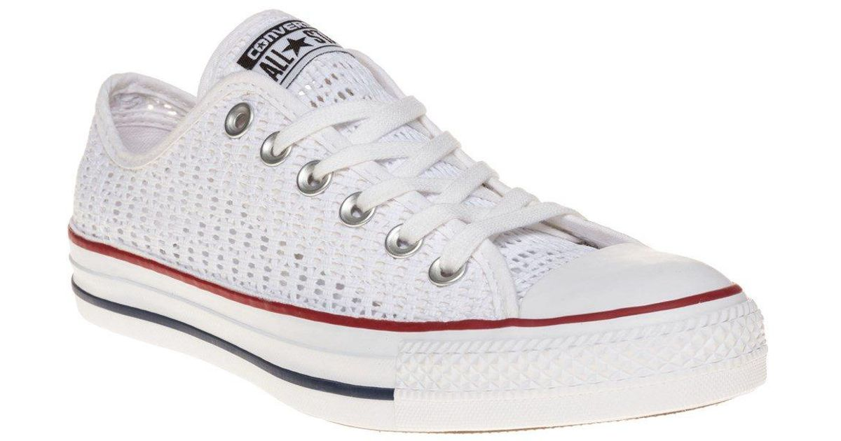 d1b11dc68d9f22 Converse All Star Ox Trainers in White - Lyst