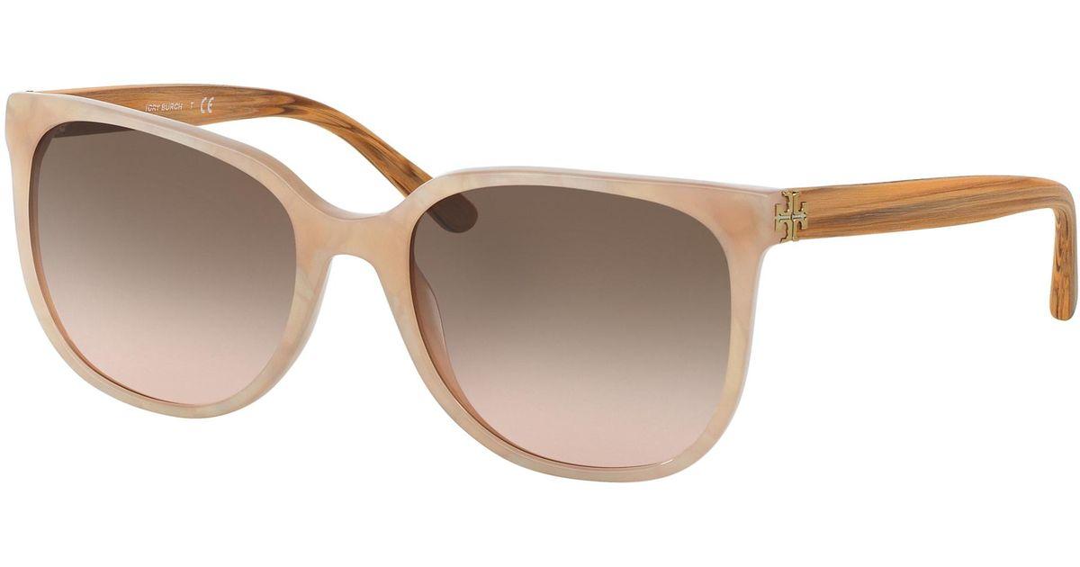 058d3c84ae Lyst - Tory Burch Slim Square Sunglasses