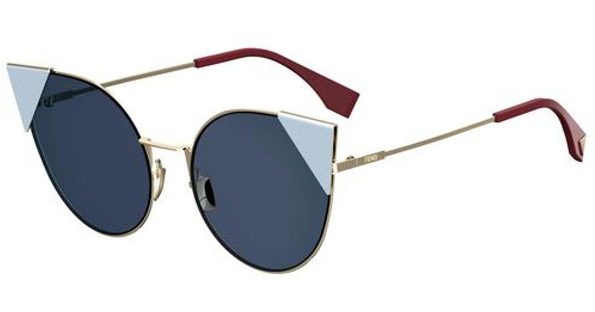 b1357e3401 Lyst - Fendi Lei 0190 Cat Eye Sunglasses in Blue
