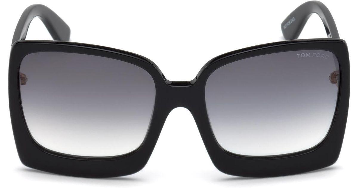 c6dba042b Lyst - Tom Ford 0617 Katrine Rectangle Sunglasses in Black