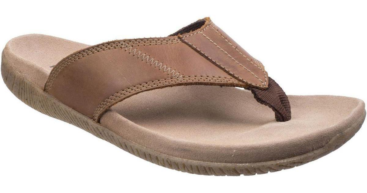 c3d1fd223fdb Hush Puppies Mutt Toe Post Mens Sandals Men s Flip Flops   Sandals (shoes)  In Brown in Brown for Men - Lyst