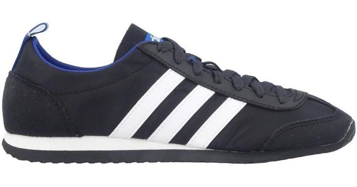 sale retailer d0288 d2cb4 adidas  s Vs Jog Low-top Sneakers in Black for Men - Lyst