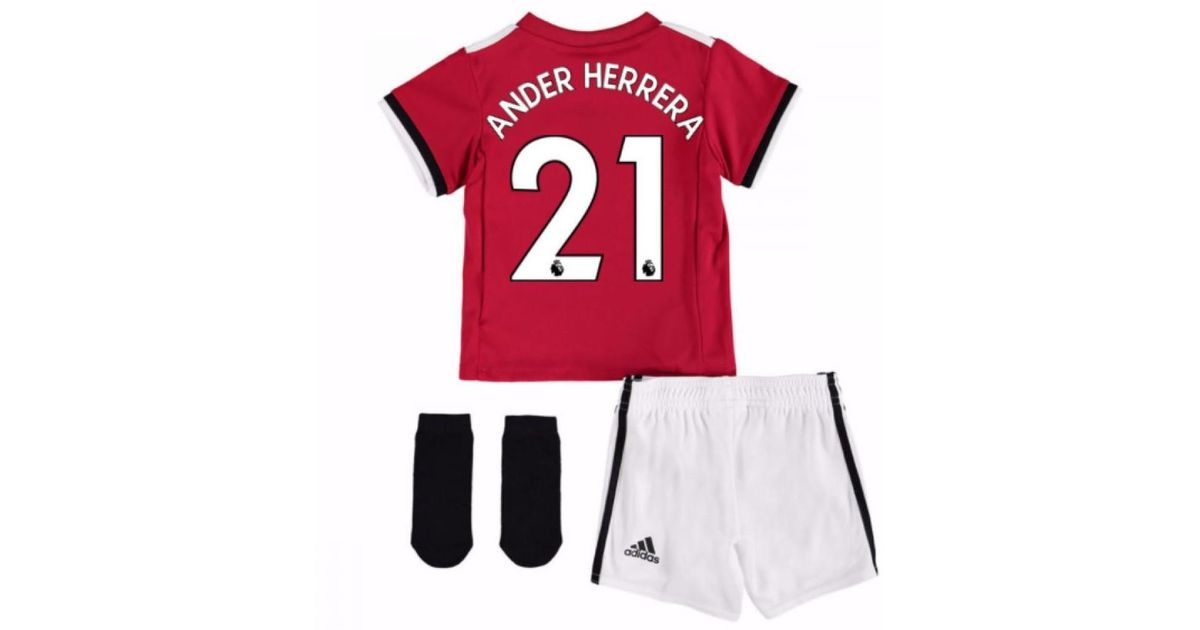 c7ffc23673d Adidas 2017-2018 Man United Home Baby Kit (ander Herrera 21) Boys s In Red  in Red for Men - Lyst