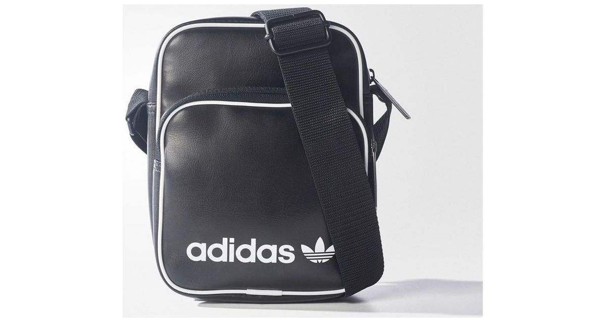 22865b1e70 adidas Originals Mini Vintage Bag Women s Messenger Bag In Black in Black -  Lyst