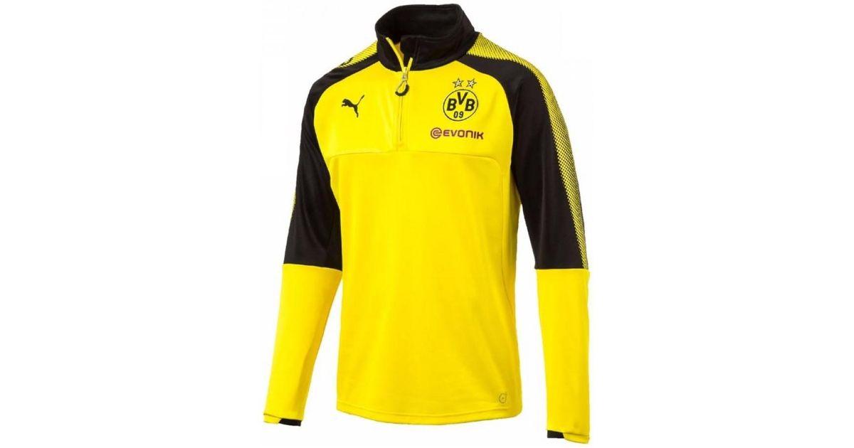 28db1e00f PUMA 2017-2018 Borussia Dortmund Half Zip Training Top - Kids ...