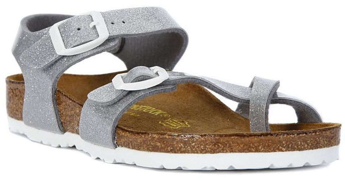 Birkenstock Taormina Silver Women s Sandals In Silver in Metallic - Lyst 63bda5566b4