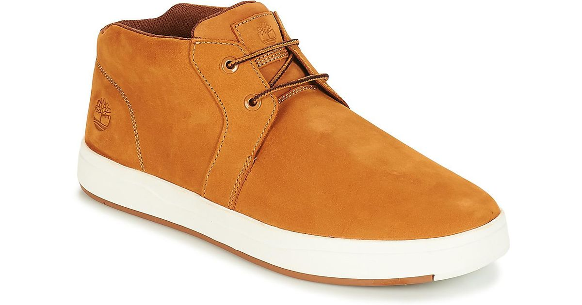5c92ad0aa3c5 Timberland Davis Square Leather Chukka Men s Shoes (trainers) In Yellow in  Yellow for Men - Save 16% - Lyst