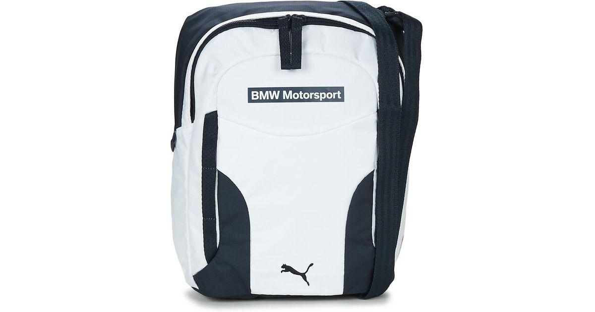 PUMA Bmw Motorsport Portable Men s Pouch In White in White for Men - Lyst 954877e781589