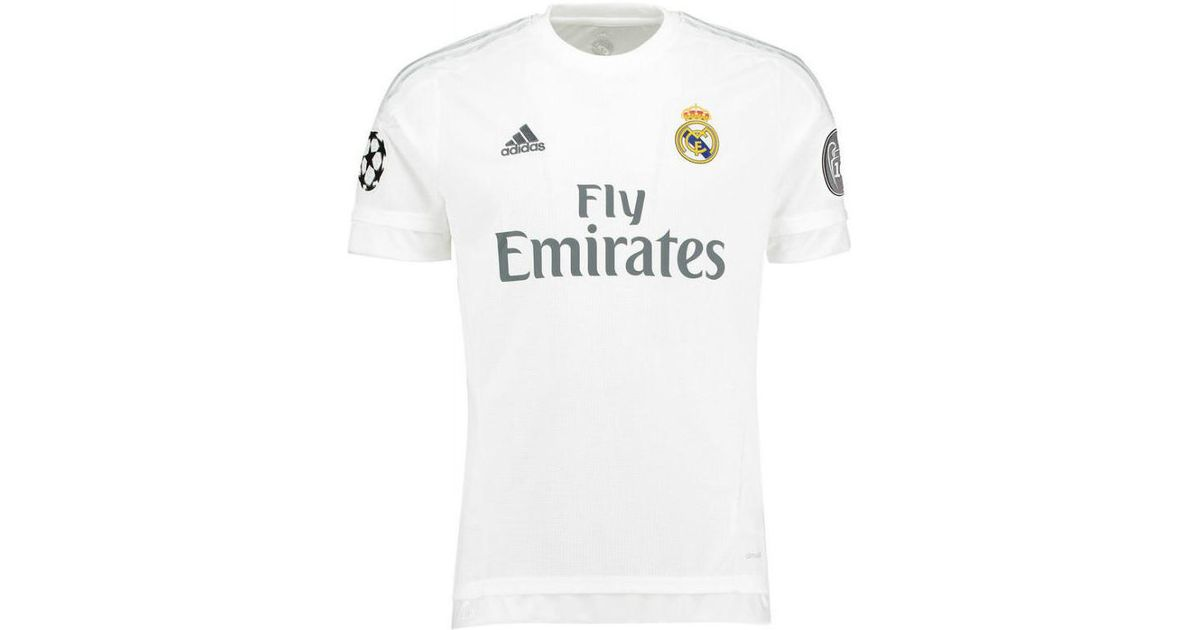 dea2c971d Adidas 2015-2016 Real Madrid Ucl Home Shirt (james 10) - Kids Women s T  Shirt In White in White - Lyst