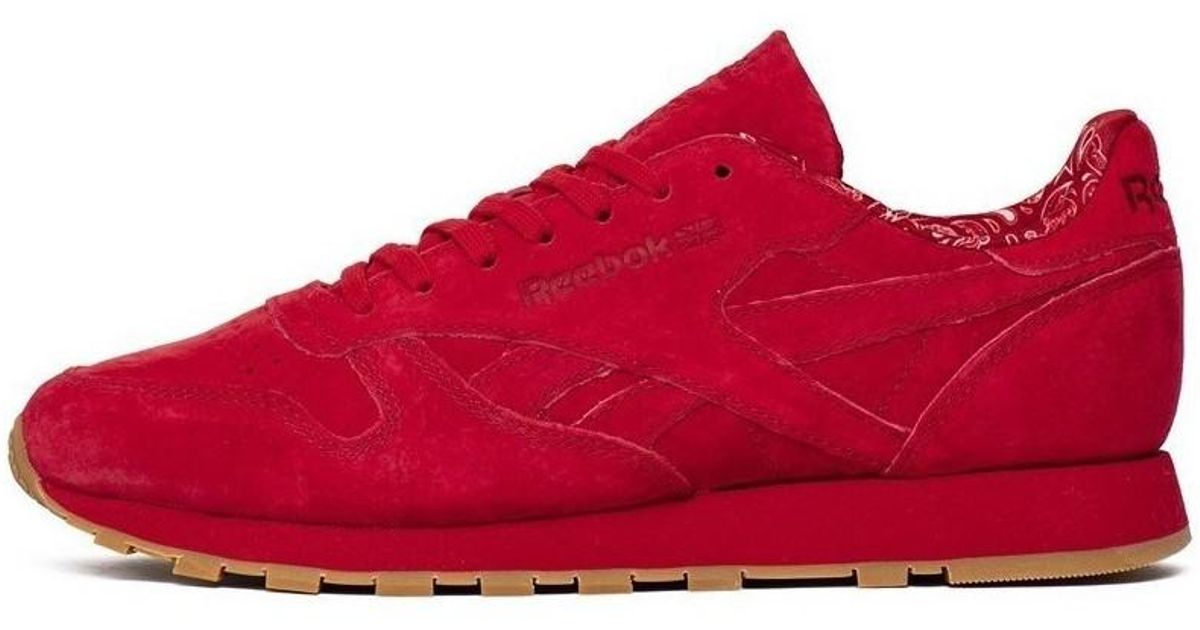 Reebok Classic Leather Paisley Pack Men s Shoes (trainers) In Red in Red  for Men - Lyst 1fad6fb22