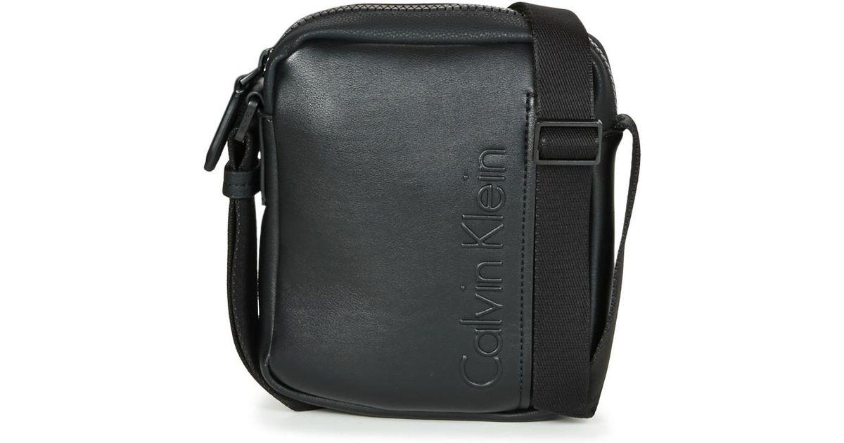 dd738f82baab Lyst - ELEVATED LOGO MINI REPORTER hommes Sacoche en Noir Calvin Klein pour  homme en coloris Noir