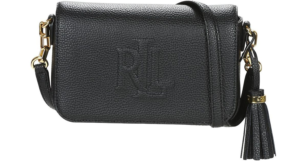f0d6ee2933a ... amazon ralph lauren anstey carmen crossbody womens shoulder bag in  black in black lyst 3284c a3a4b