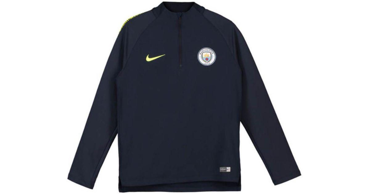 0dc8cd10 Nike 2018-2019 Man City Squad Drill Training Top Top (obsidian) - Kid Men's  Sweatshirt In Blue in Blue for Men - Lyst
